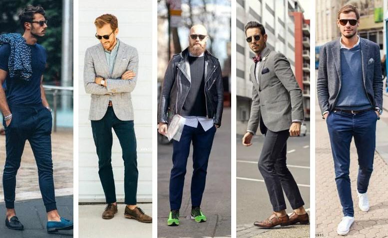 Cách phối đồ với quần chinos màu xanh navy