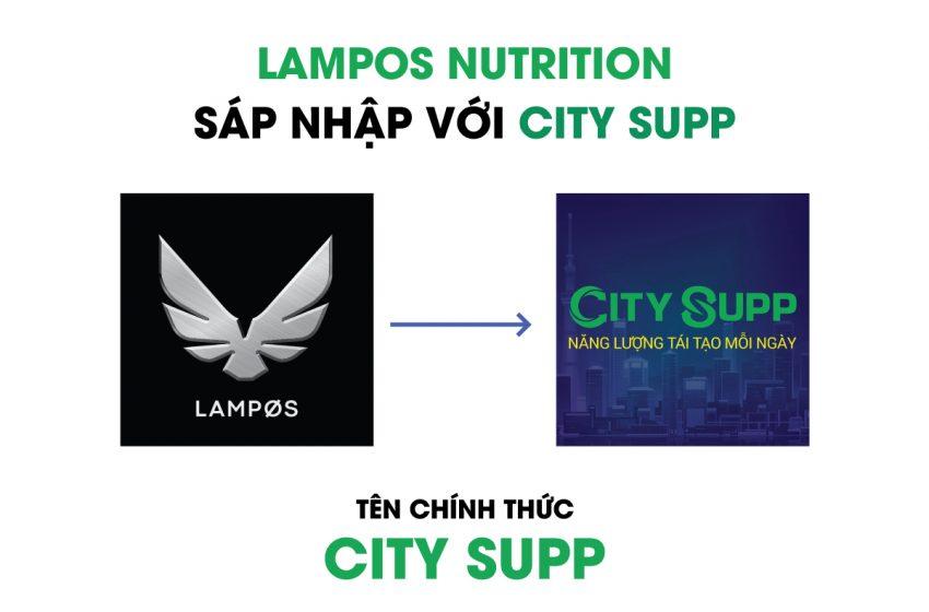 Thông Báo Sáp Nhập và Đổi Tên Thương Hiệu LAMPØS NUTRITION thành CITY SUPP