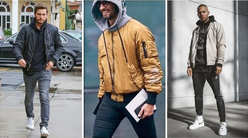 Bomber Jacket + Hoodie Sự kết hợp mang đến một outfit hiện đại, phong cách và cực kỳ tinh tế