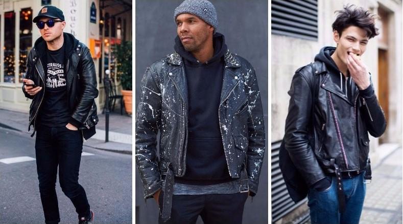 Một trong những cách tốt nhất để giữ ấm trong mùa đông là lót một chiếc áo hoodie kết hợp với áo khoác da