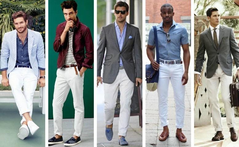 Sự phối hợp hoàn hảo của những chiếc quần chinos màu trắng