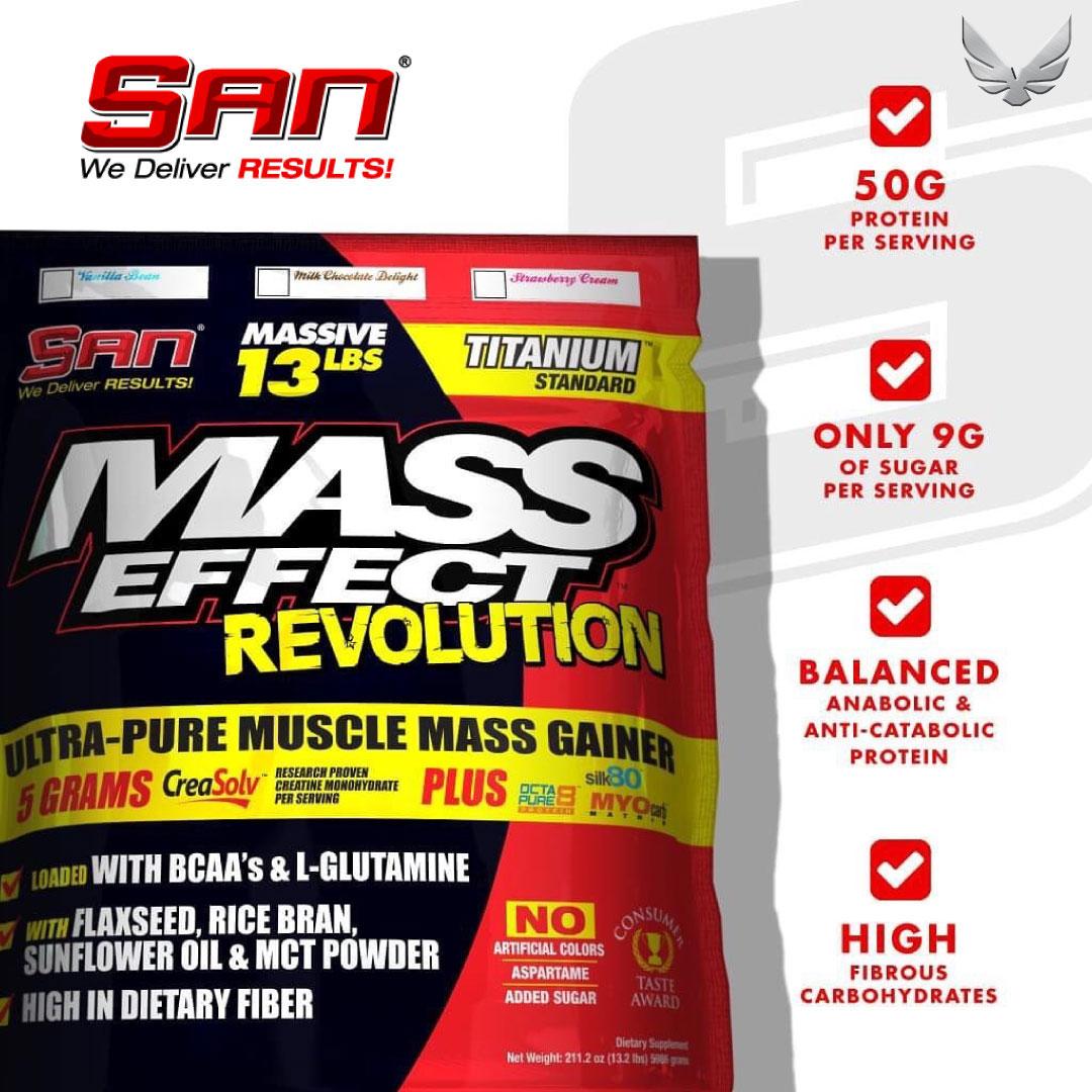 Mass Effect chứa đến 50g protein trong một khẩu phần (serving)